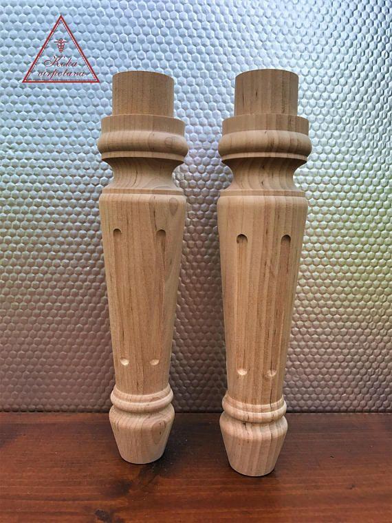 Coffee Table Leg Handmade Wooden Leg Wooden Turned Feet