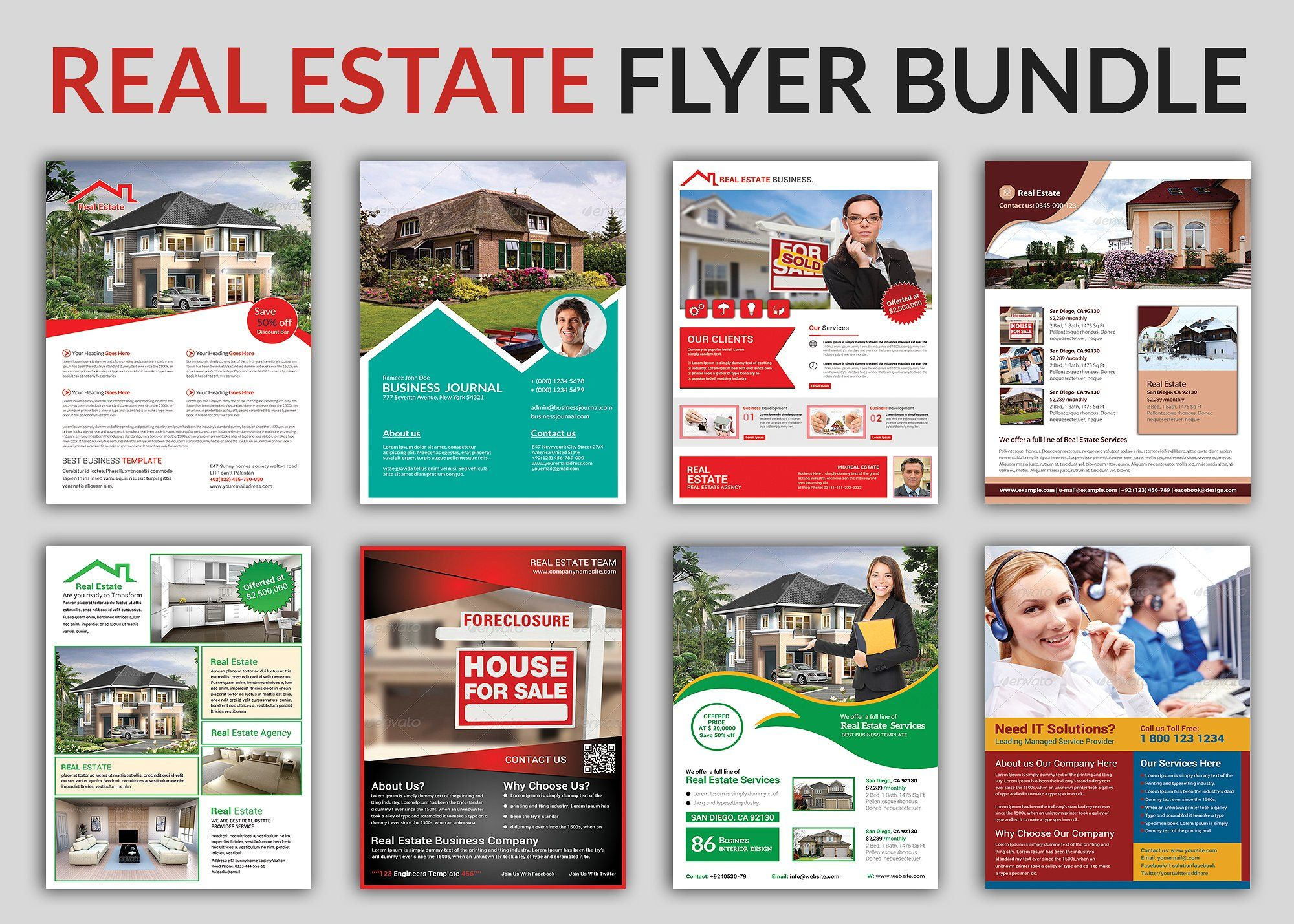 Real Estate Flyer Bundle Templates By Afzaalgraphics On