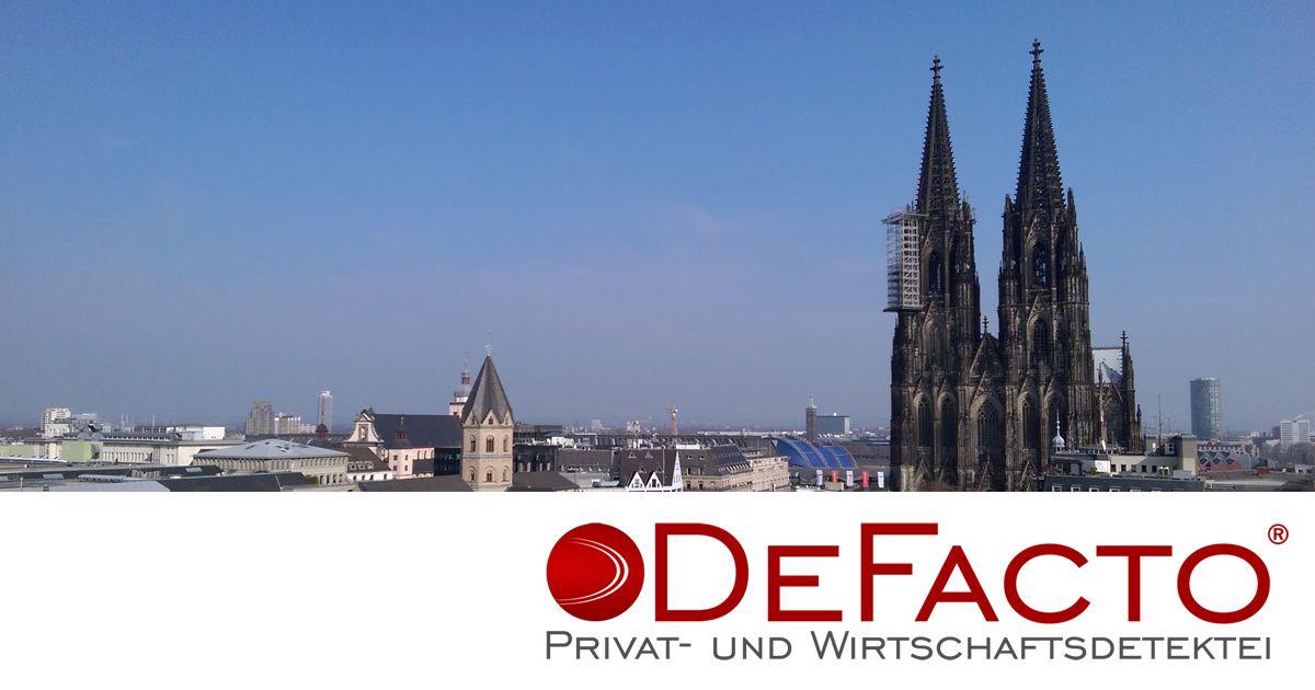 Die DEKRA-zertifizierte Privat- und Wirtschaftsdetektei DeFacto aus Köln unterstützt Sie in allen Fällen privater und gewerblicher Ermittlungen.
