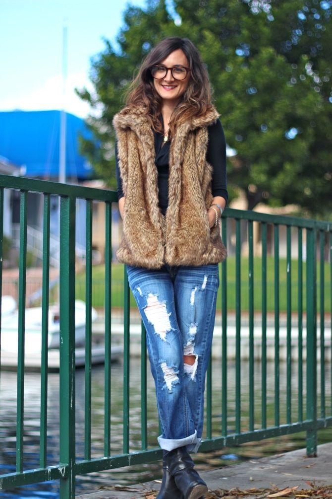 Faux Fur Vest Trend.