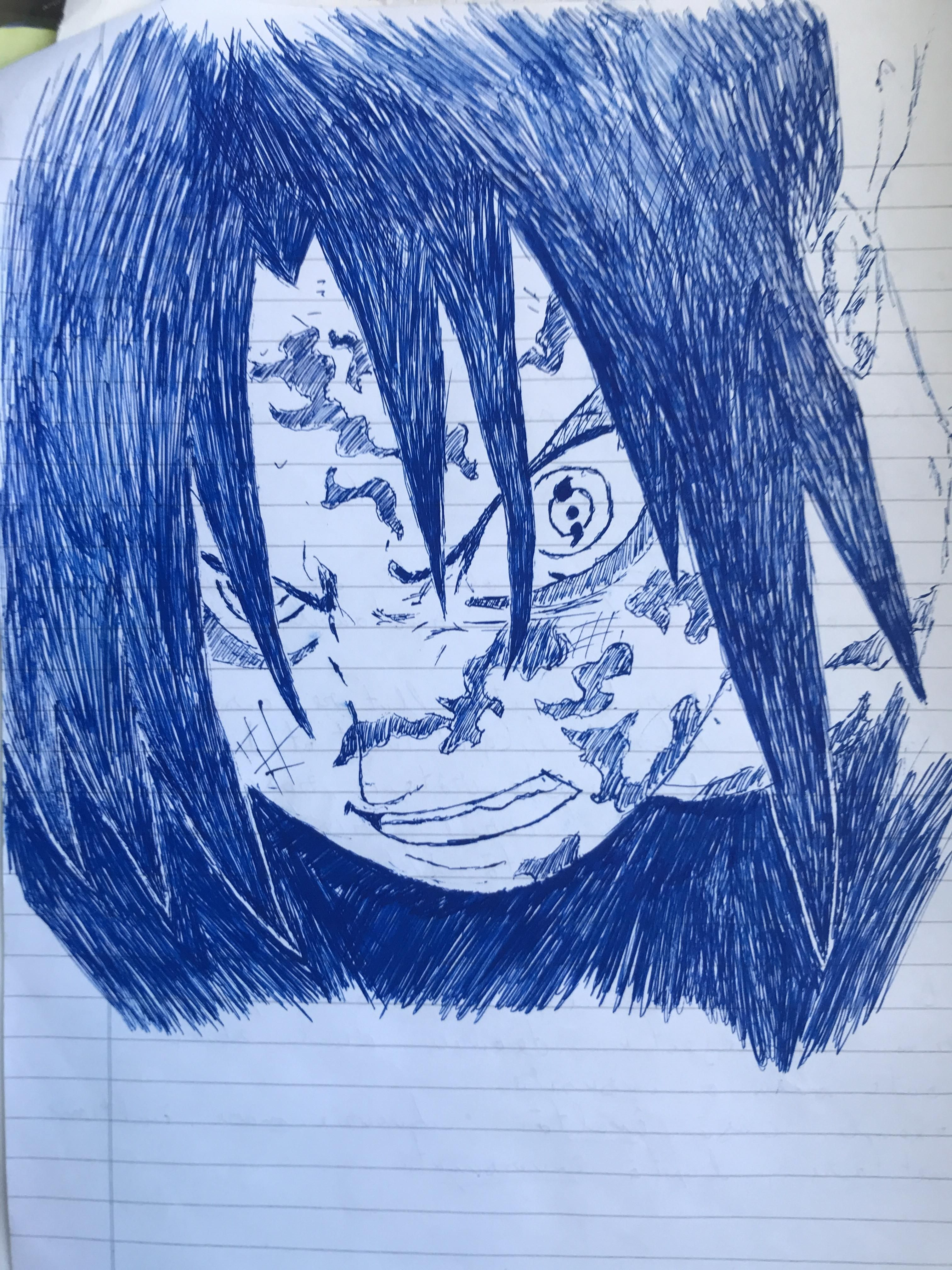 A Little Sketch I Made In Class A While Ago Thought You Guys Would Like It Naruto Anime Manga Desenhos Desenhos A Lápis