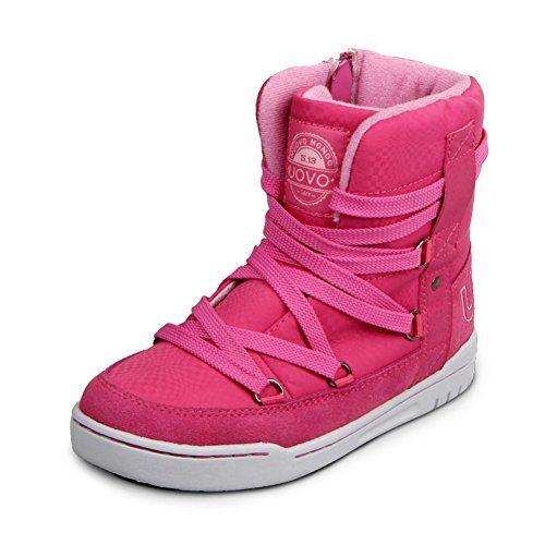 love those U-MAC Boys Girls Martin Boots Comfort Winter Warm High Top Boots  X