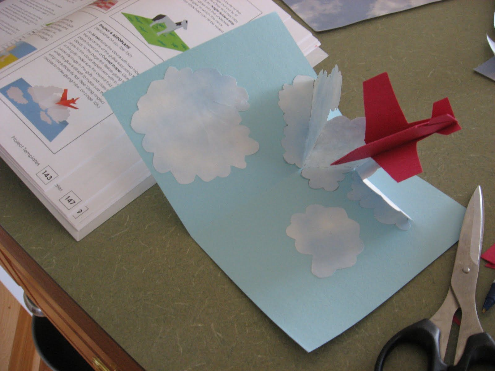pop up card tutorial lesson 23 floating tabletop with i beam