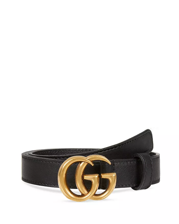 Gucci Women S Leather Belt With Double G Buckle Handbags Bloomingdale S Womens Leather Belt Black Gucci Belt Gucci Leather Belt