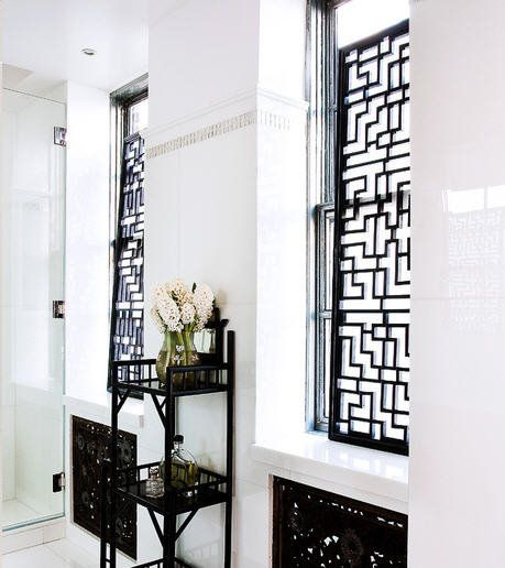 Because I Love Black And White Asian Window Treatments Bathroom