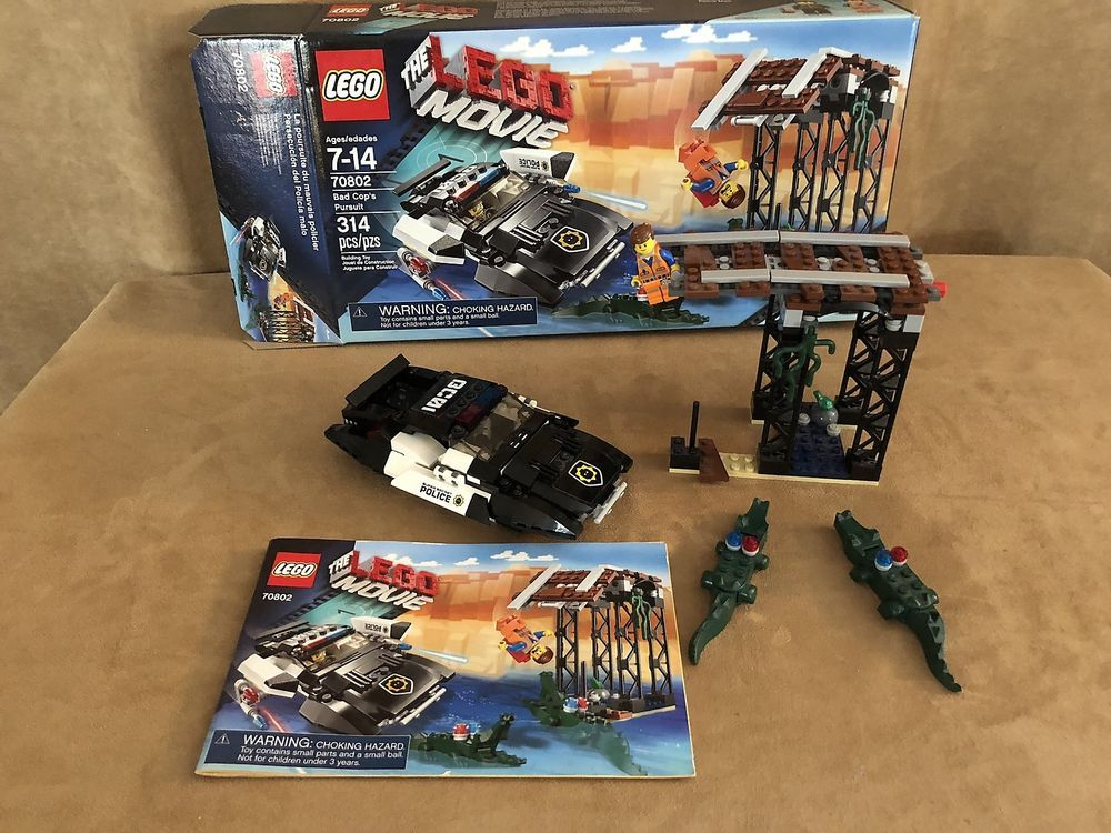 70802 Lego Bad Cop S Pursuit New Sealed Box The Lego Movie Emmett Police Car Lego Lego Movie Lego Cops