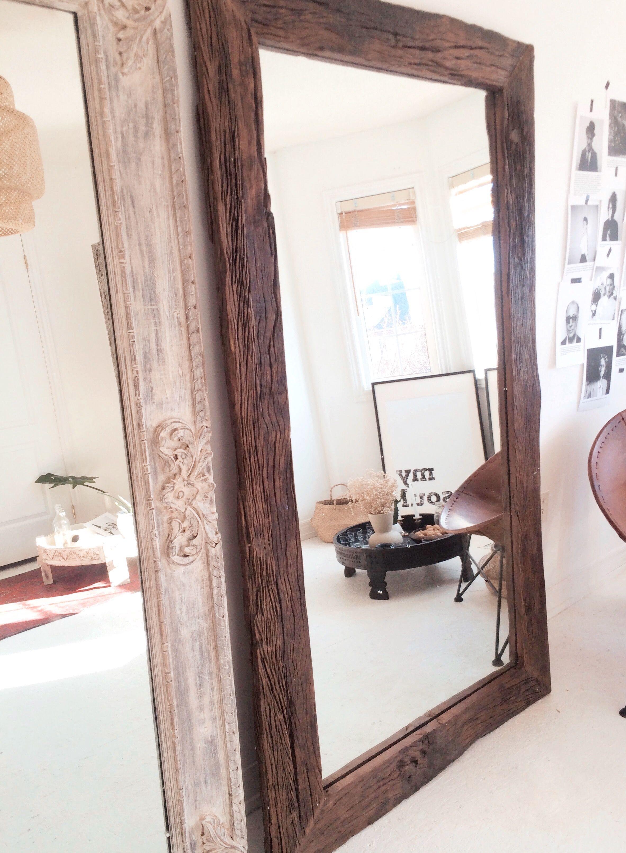 Reclaimed Wood Floor Mirror Extra Large Wood Framed Mirror