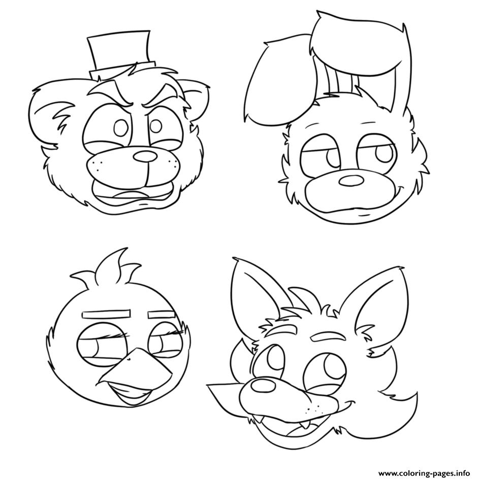 Accomplished image regarding fnaf coloring pages printable