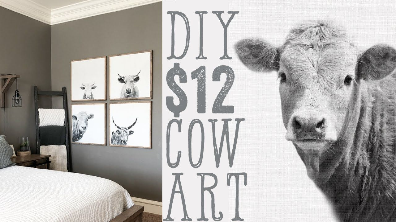 Diy Cow Wall Art For 12 Youtube Create Your Own Unique Cow Wall Art With A Few Simple Steps And Onl Cow Wall Art Diy Gallery Wall Abstract Wall Art Diy