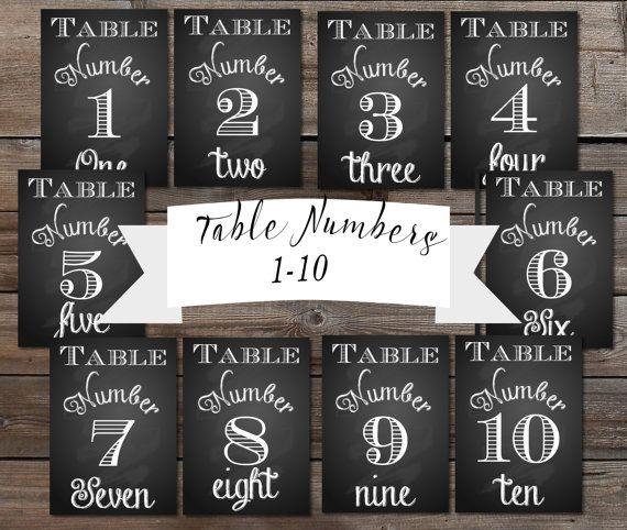 Table Numbers Wedding Instant 1 30 Printable Chalkboard Sign Diy Bride Reception Chalksuite