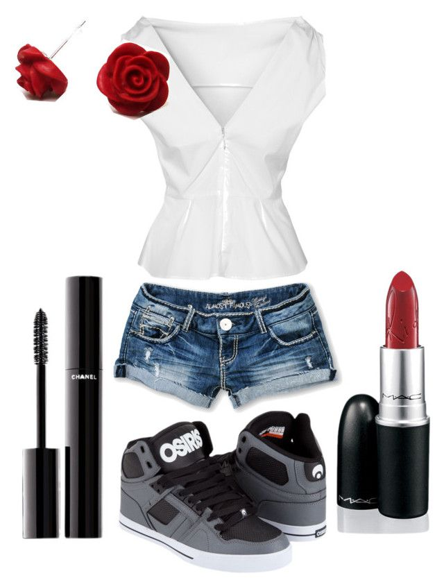 """""""Kinda pretty."""" by gingerfish0000 ❤ liked on Polyvore featuring GANT, Almost Famous, Osiris and Chanel"""