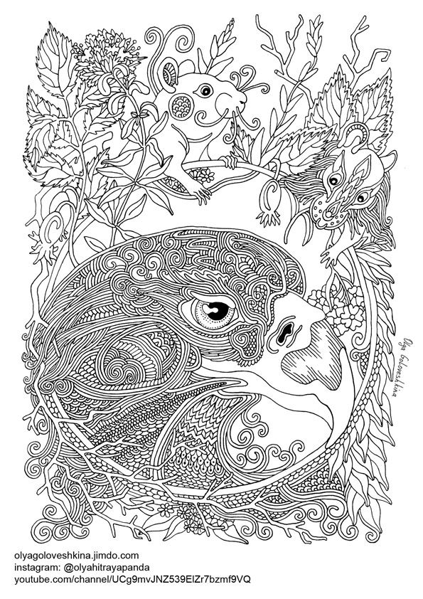 Free Coloring - Сайт olyagoloveshkina | Coloring for adults ...