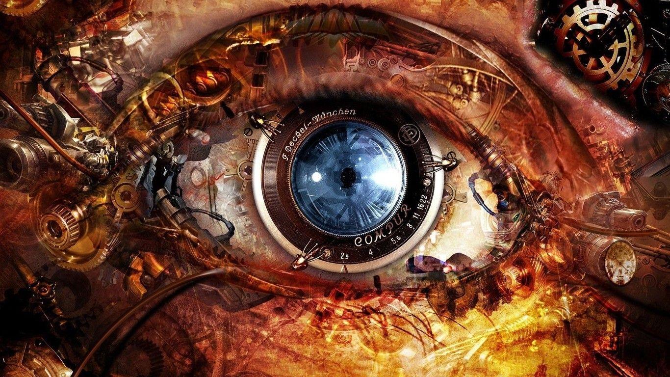 Eyes Digital Art Abstract Machine Wallpapers Hd Desktop And Mobile Backgrounds Steampunk Oogkunst Virtueel Museum