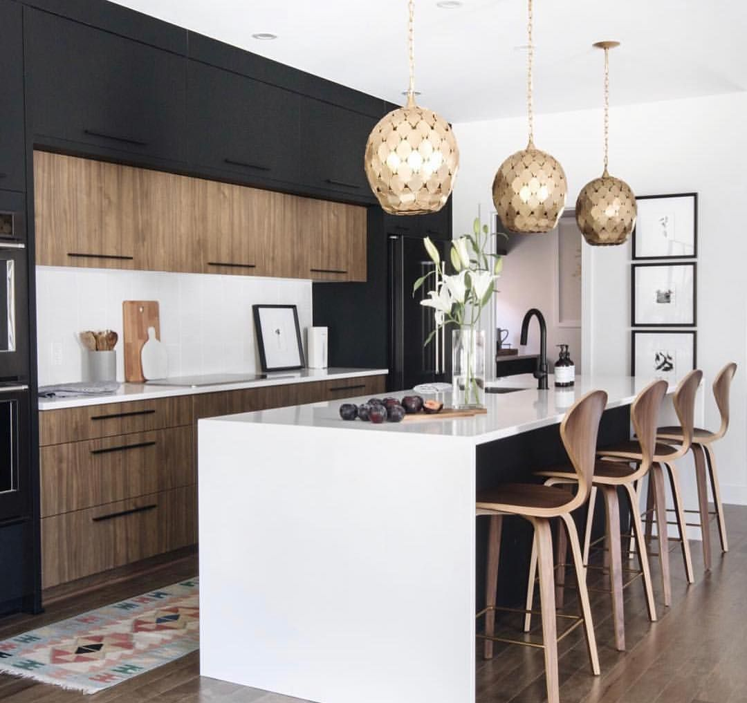 """Anna Centron︎Realtor on Instagram: """"Are you afraid of using black in your kitchen? Don't be! Look at how beautiful my WKC (Wednesday Kitchen Crush) designed by @leclairdecor…"""""""