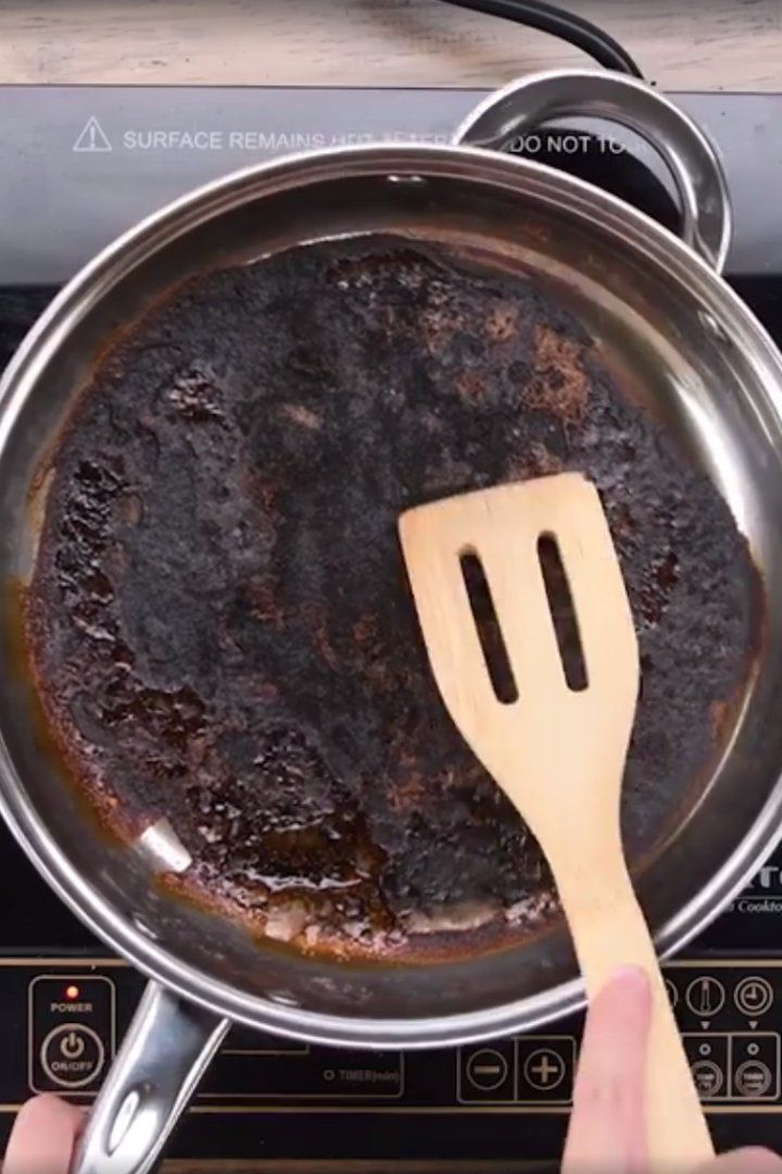 How To Clean A Scorched Pan Cleaning Burnt Pans Cleaning