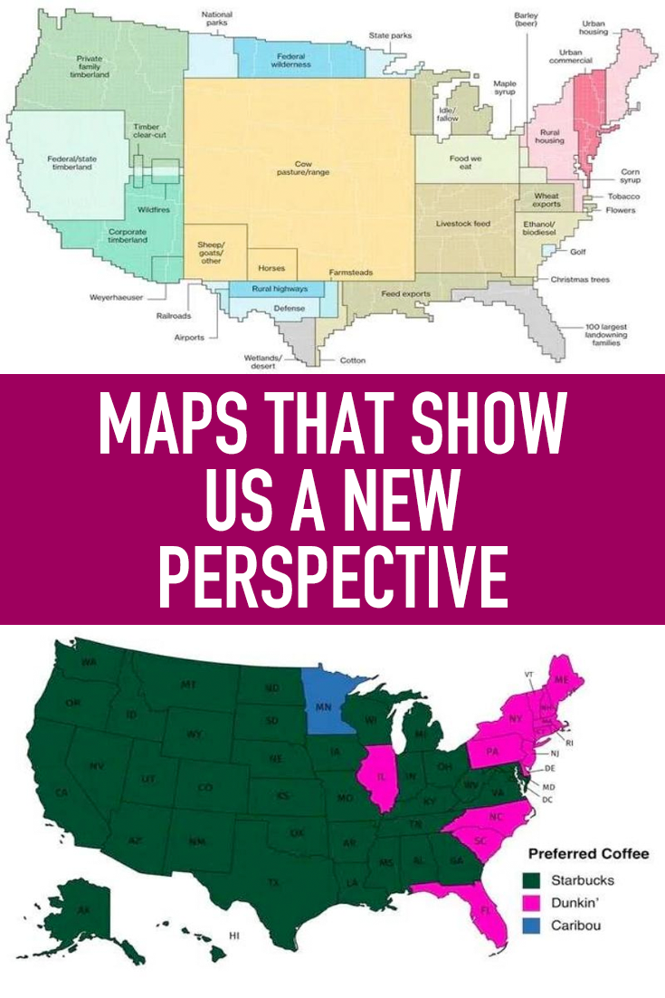 Show A Us Map Maps That Show Us A New Perspective | Map, New perspective
