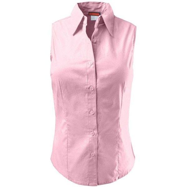 LE3NO Womens Lightweight Cotton Sleeveless Button Down Shirt (70 ...