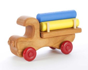 Wooden Toy Truck Stacking Toy by PapaDonsWoodenToys on Etsy