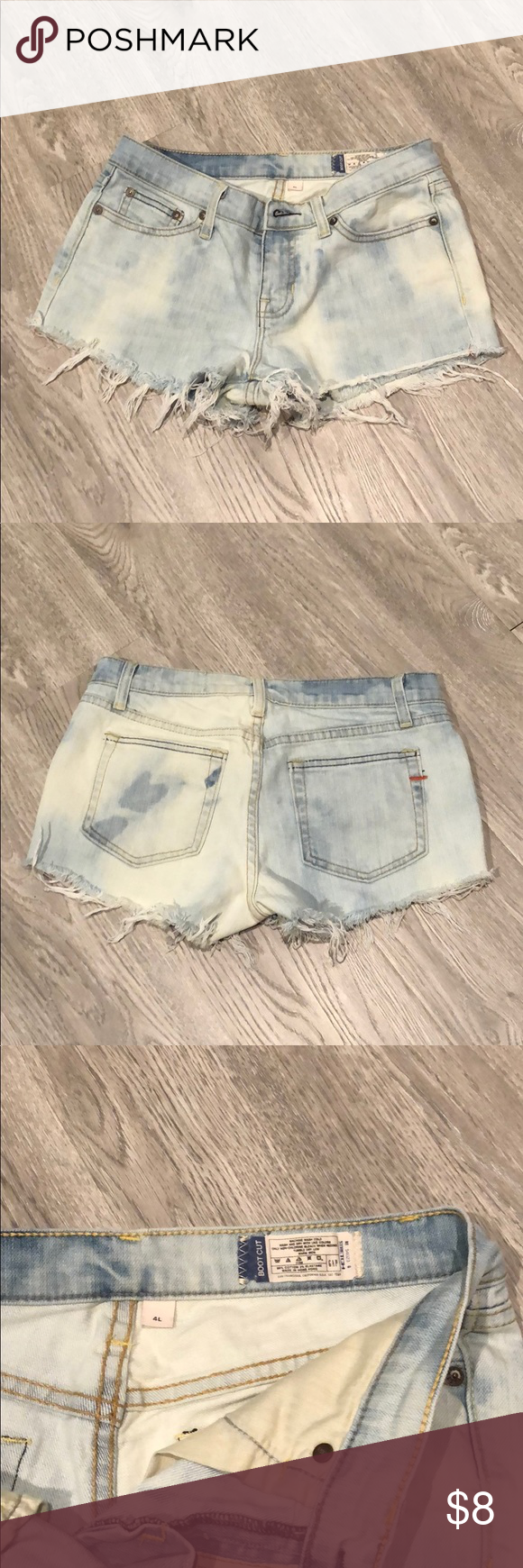 Gap Denim Cutoff Shorts Gap Denim Cutoff Shorts. These were pants and I cut into shorts and bleached them.   material: 98% cotton, 2% elastane GAP Shorts Jean Shorts #denimcutoffshorts Gap Denim Cutoff Shorts Gap Denim Cutoff Shorts. These were pants and I cut into shorts and bleached them.   material: 98% cotton, 2% elastane GAP Shorts Jean Shorts #denimcutoffshorts Gap Denim Cutoff Shorts Gap Denim Cutoff Shorts. These were pants and I cut into shorts and bleached them.   material: 98% cotton, #denimcutoffshorts