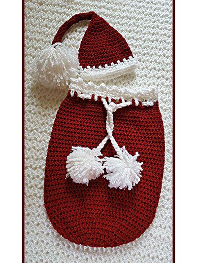 Santa Baby Cocoon Christmas Set | SAQUITOS PARA BEBÉ | Pinterest ...