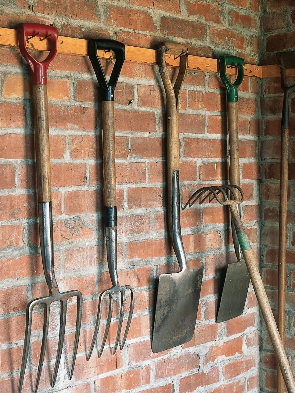 Organize Lawn And Garden Tools In The Garage