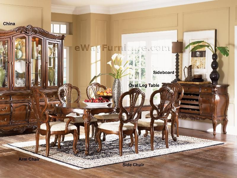 Grand Victorian Formal Dining Room Furniture Oval Table