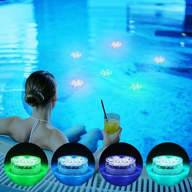 Swimming Pool Light Led Underwater Remote Rgb Control Multi Color Fountain Light In 2020 Swimming Pool Lights Underwater Pool Light Fountain Lights