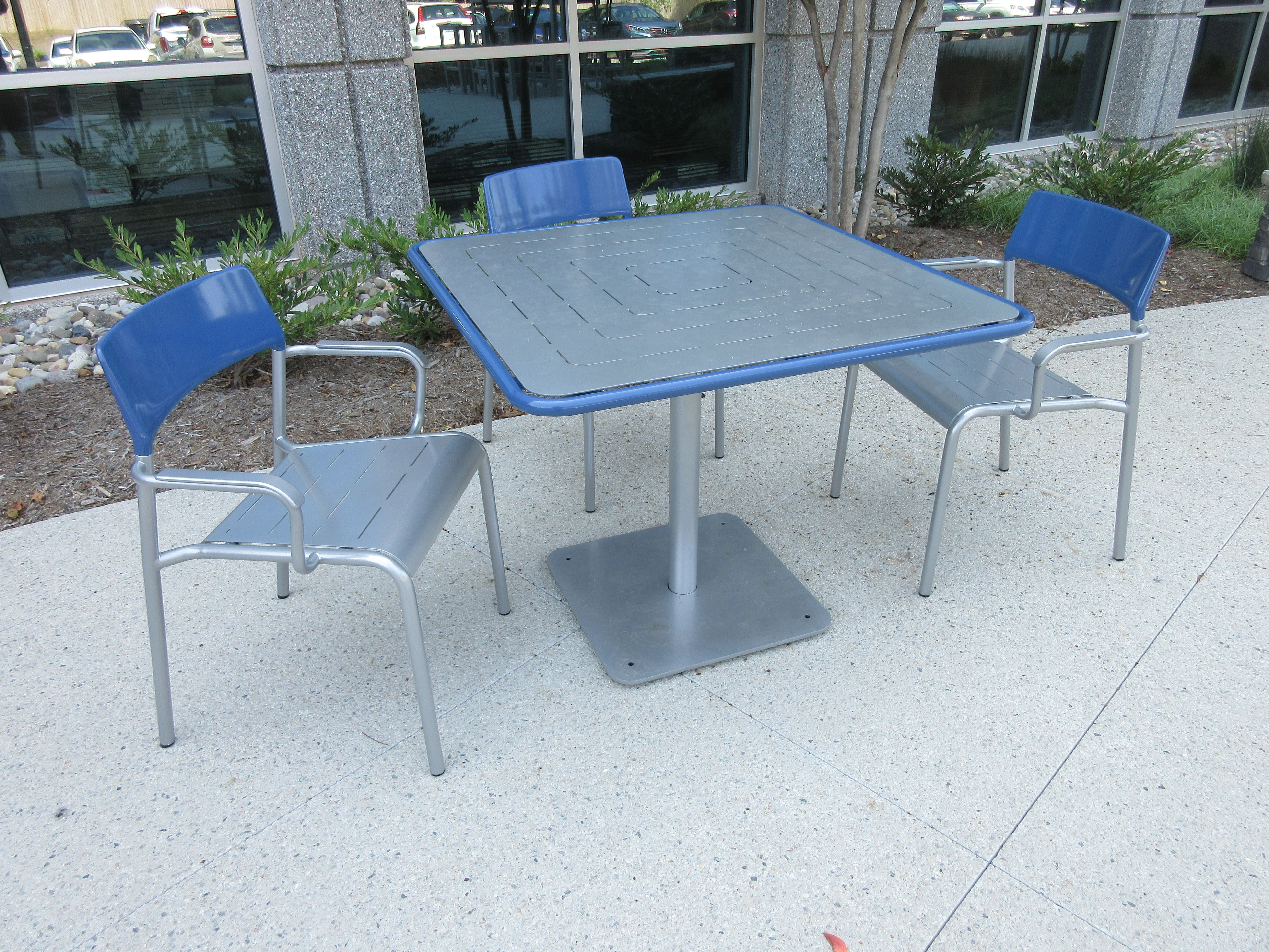 Forty540 Morrisville Nc Square Foro Table With Armed Foro Chairs