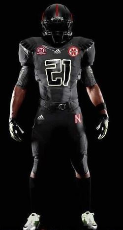 6abafa6b0ab Nebraska Cornhuskers black alternate uniforms- Come on