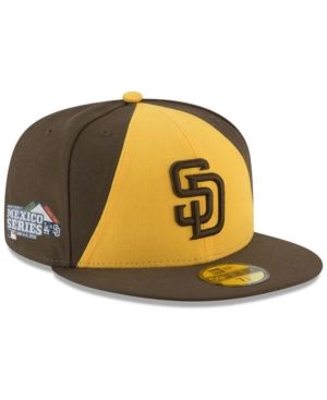 wholesale dealer 434c1 426c3 New Era San Diego Padres Mexico Series 59FIFTY Cap - Brown Yellow 7 3 8