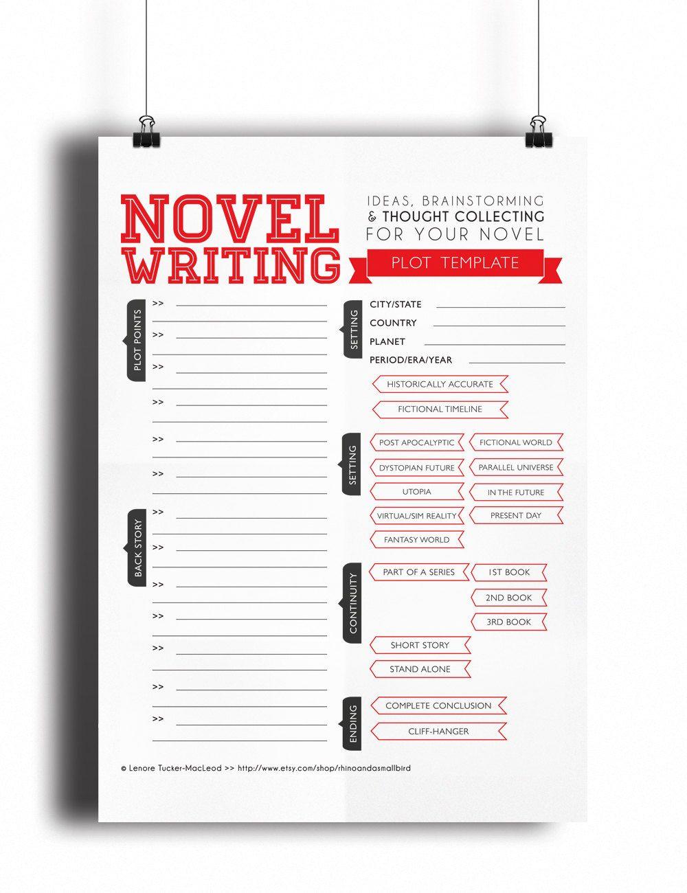 Novel Writing Templates V2 Schreiben Arbeitsblatt Schreibtipps Schreibinspiration Novel writing template printable