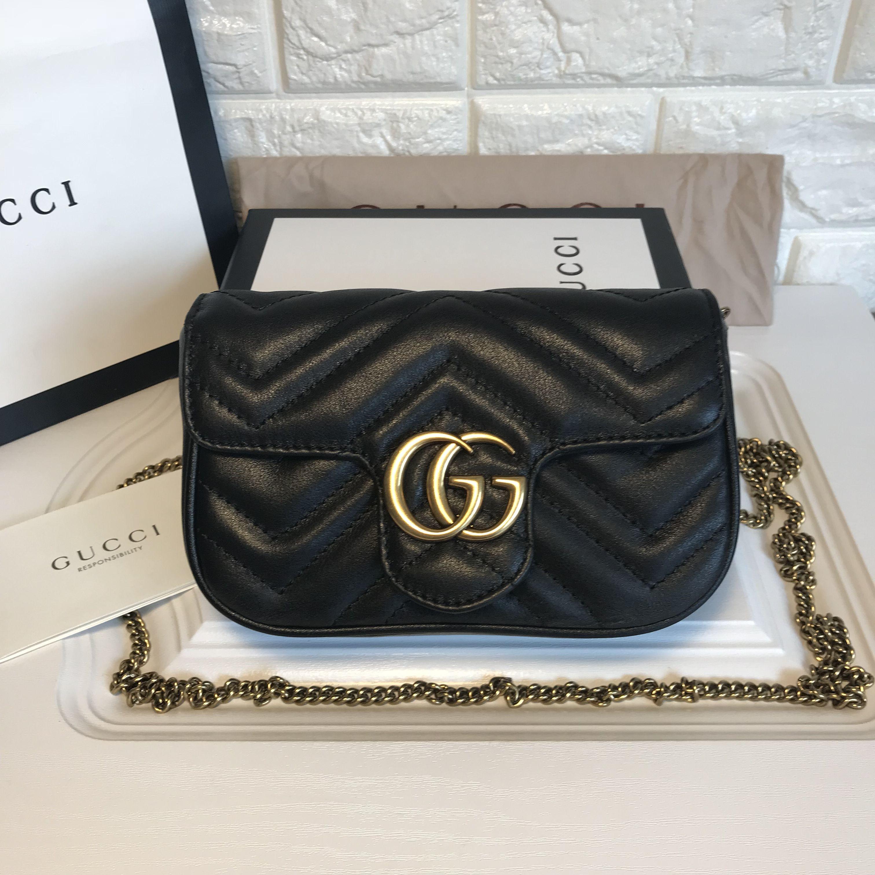 14bd3251f Gucci marmont chain flap bag mini size 16.5cm original leather | BAG ...