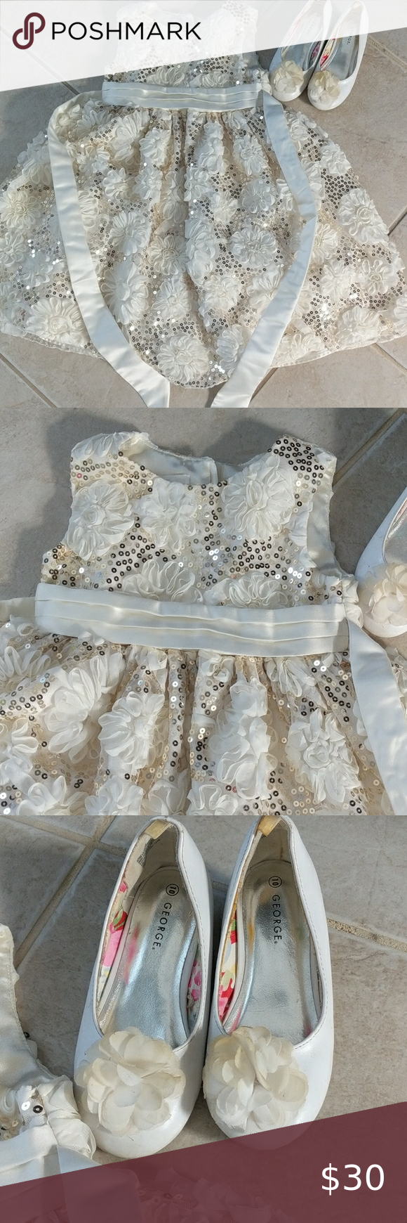 5t Cream Off White Holiday Dress Matching Shoes Off White Dresses White Holiday Dress American Princess [ 1740 x 580 Pixel ]