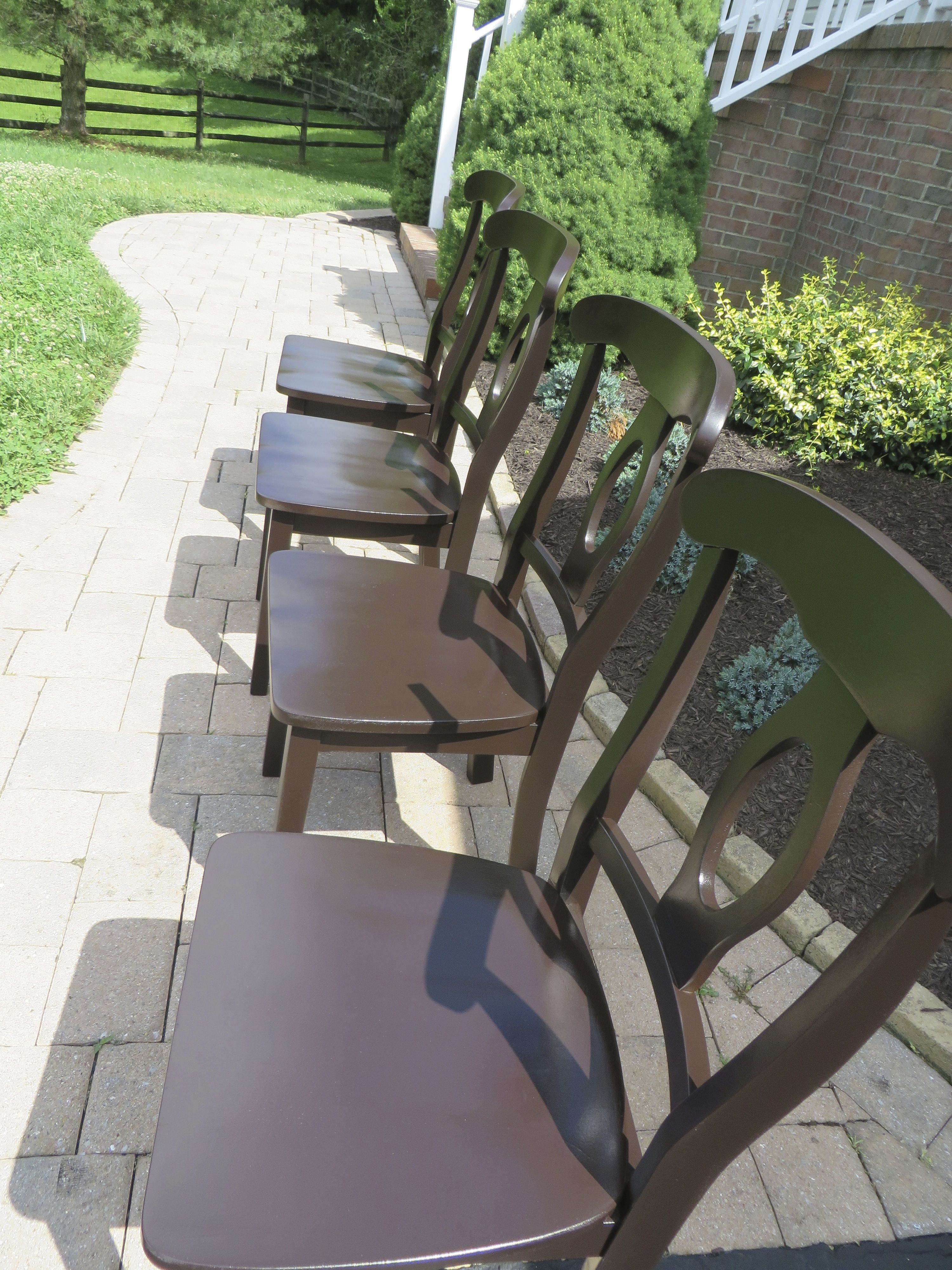Kitchen Chairs Refinished With General Finishes Dark