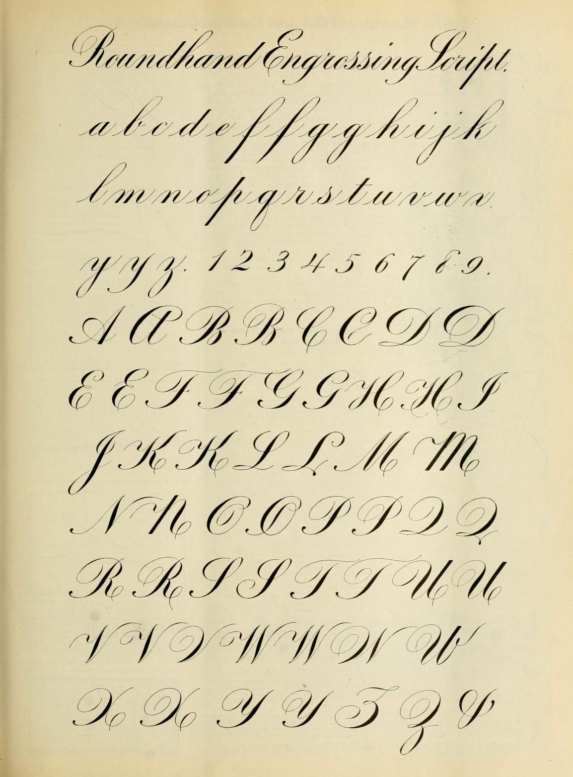 Roundhand Engrossing Engrosser S Script Exemplar From