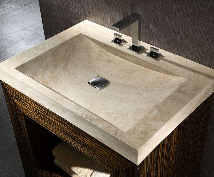 30in Stone Vanity Top With Integrated Bowl Stone Sink Sink