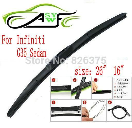 Free Shipping Car Wiper Blade For Infiniti G35 Sedan Size 26 16