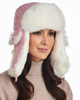 8f18597fc33d7 Black Taslon Trapper with Natural Grey Rabbit Fur