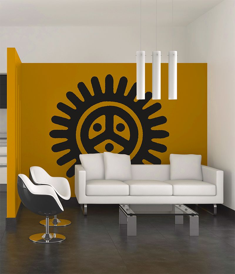 sol taino wall decal wall colors wall decals and walls. Black Bedroom Furniture Sets. Home Design Ideas