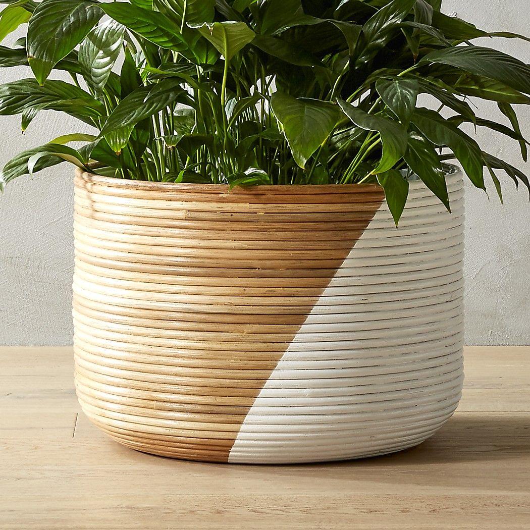 Basket Extra Large White Planter Reviews White Planters Large Planters Pots Basket Planters