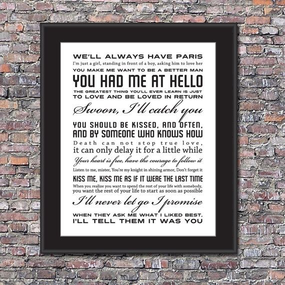 Famous Quotes About Love Movie Love Quotes Custom 8 X 10 Canvas  Pinterest  Movie Song .