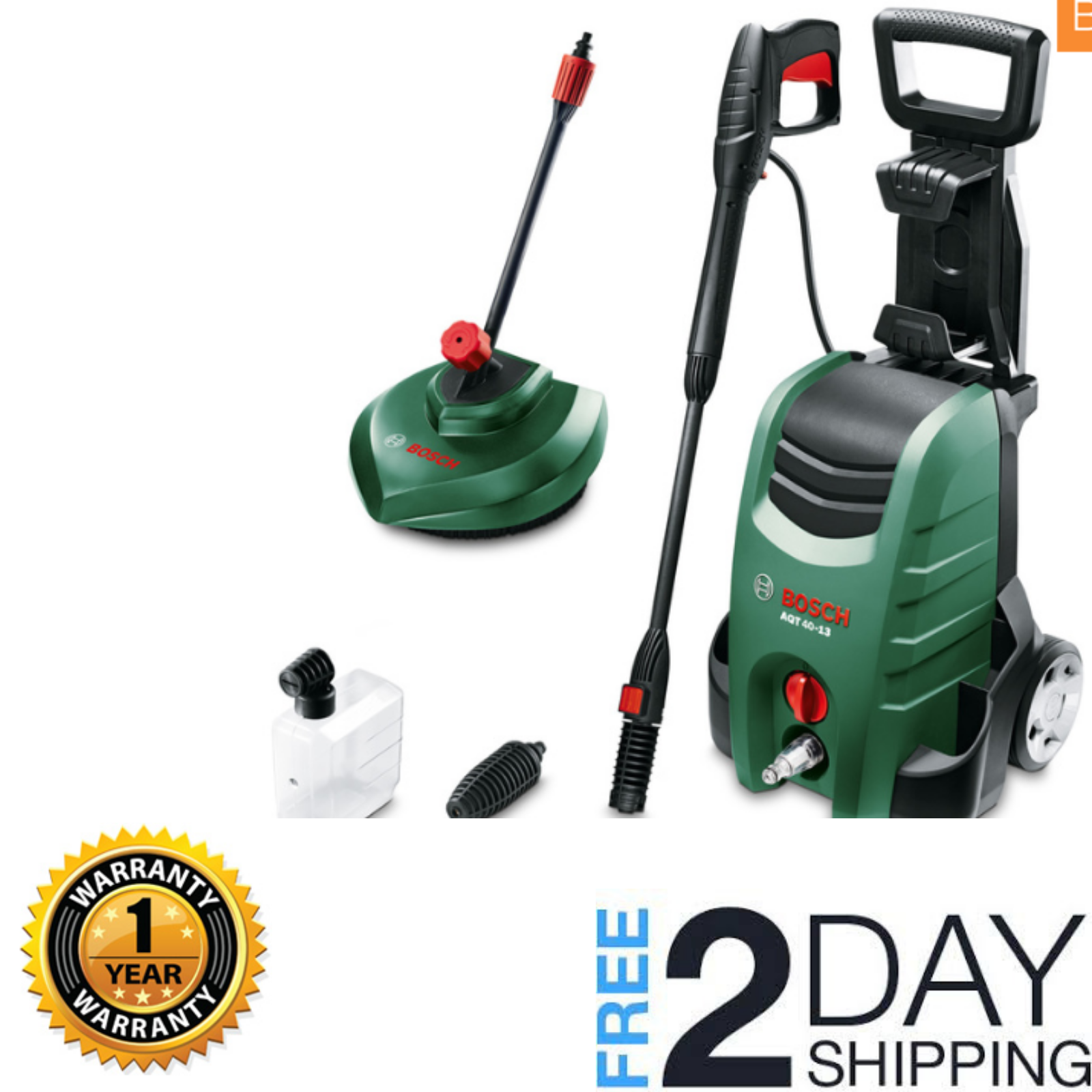 Bosch Aqt 40 13 High Pressure Washer Patio Cleaner Jet Nozzle For Quick Cleaning 3165140716802 Ebay Pressure Washer Quick Cleaning Bosch