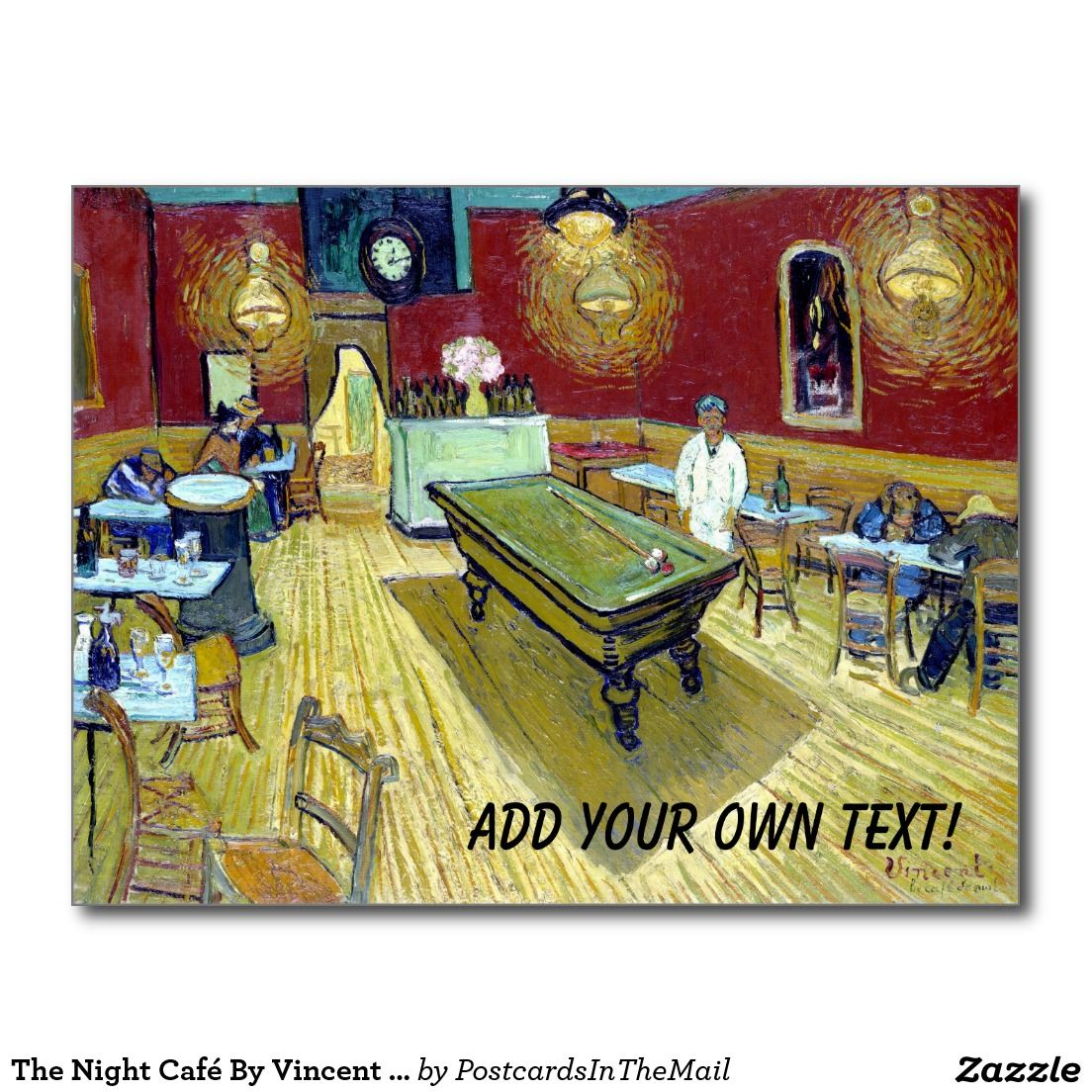 The Night Café By Vincent Van Gogh Postcard | ARTS AND CRAFTS ...
