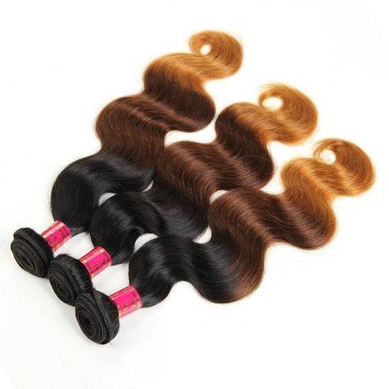10a Peruvian Hair Body Wave 3 Bundles For Sale Ombre Color Hair