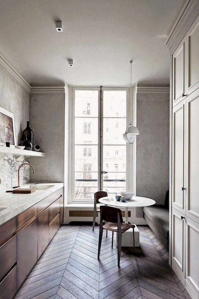 65 Admirable Apartment Kitchen Decor Ideas   Modern kitchen