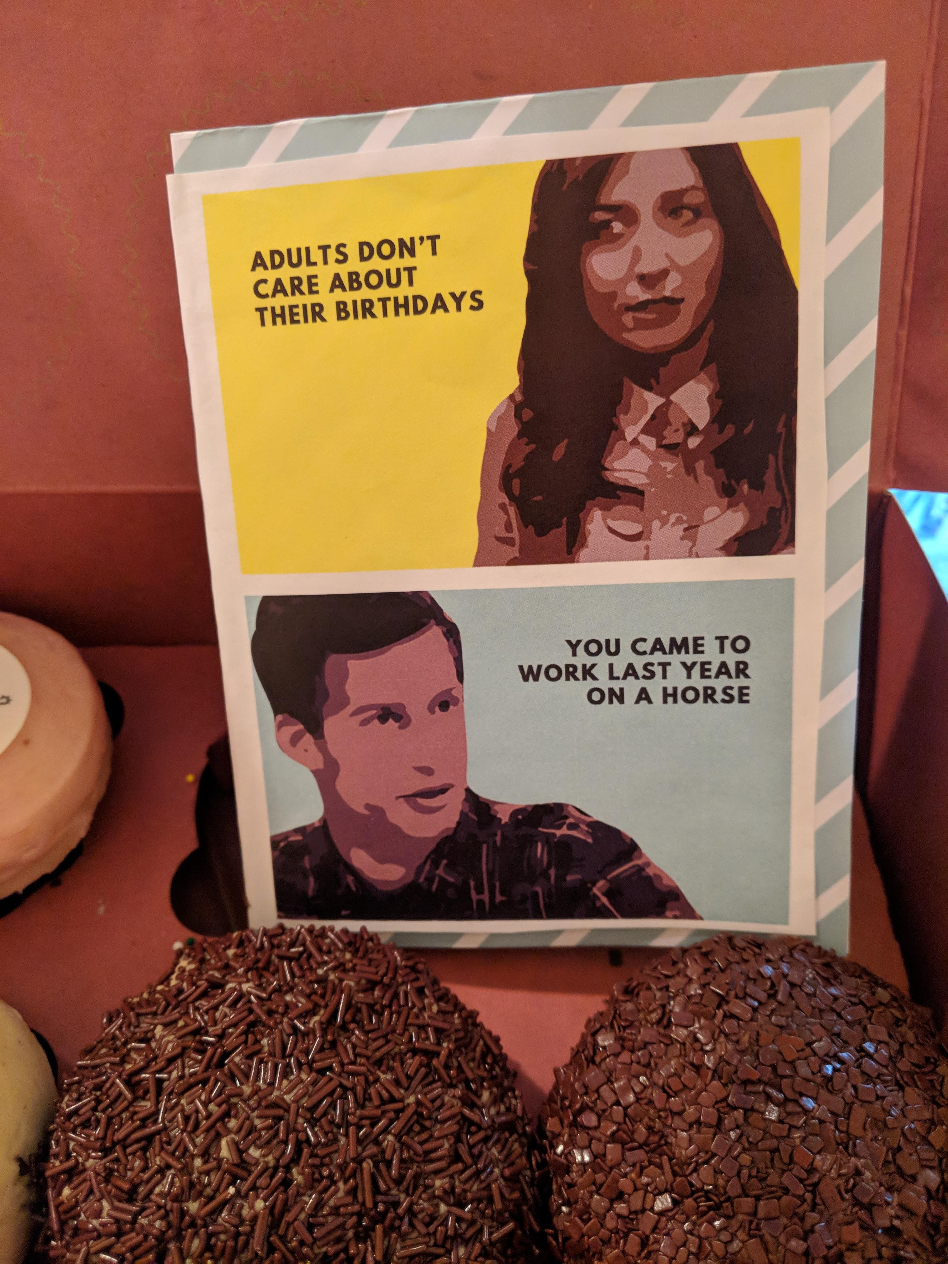 My wife gets me with this homemade birthday card