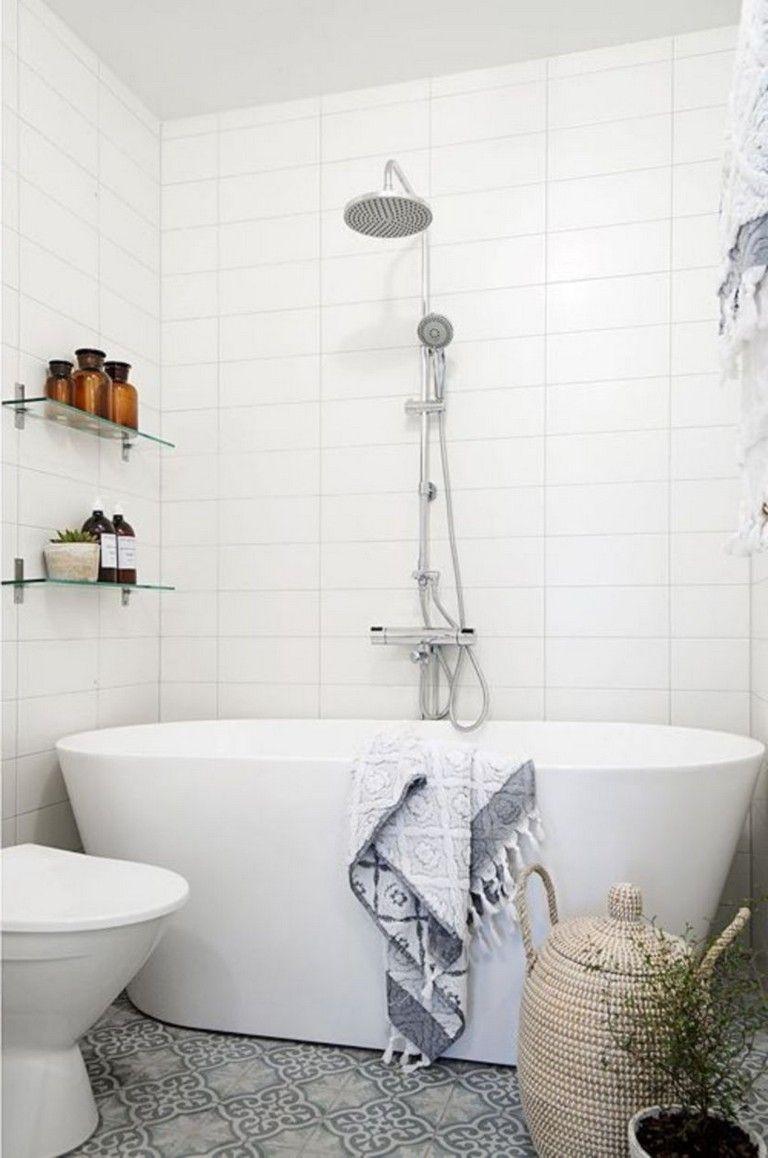 55 Simple Bathroom Design Ideas With A Small Tubs Simple Bathroom Designs Simple Bathroom Bathroom Interior Design