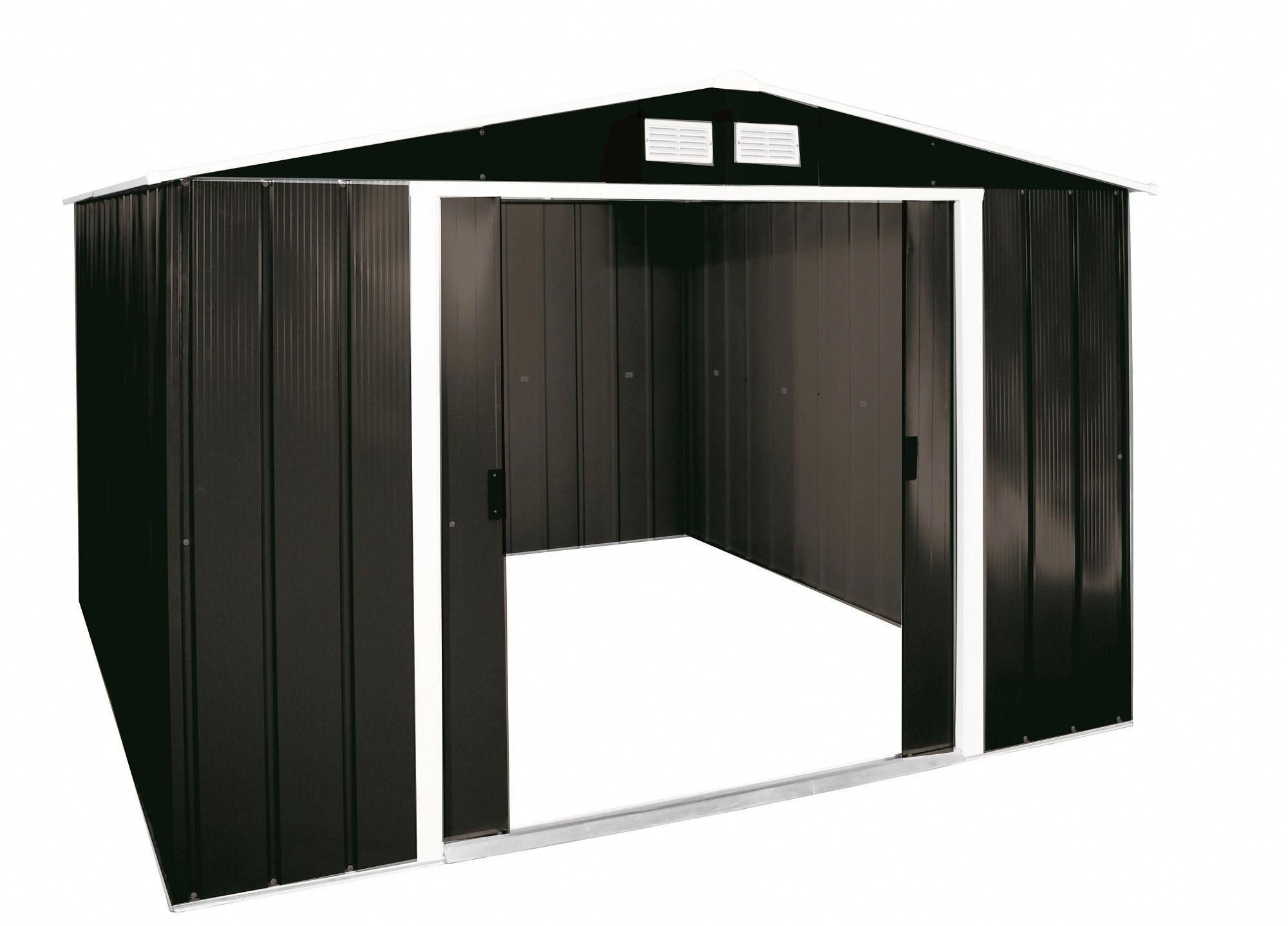 Sapphire 10x10 Metal Shed Anthracite Metalgardensheds Metal Shed Storage Sheds For Sale Shed