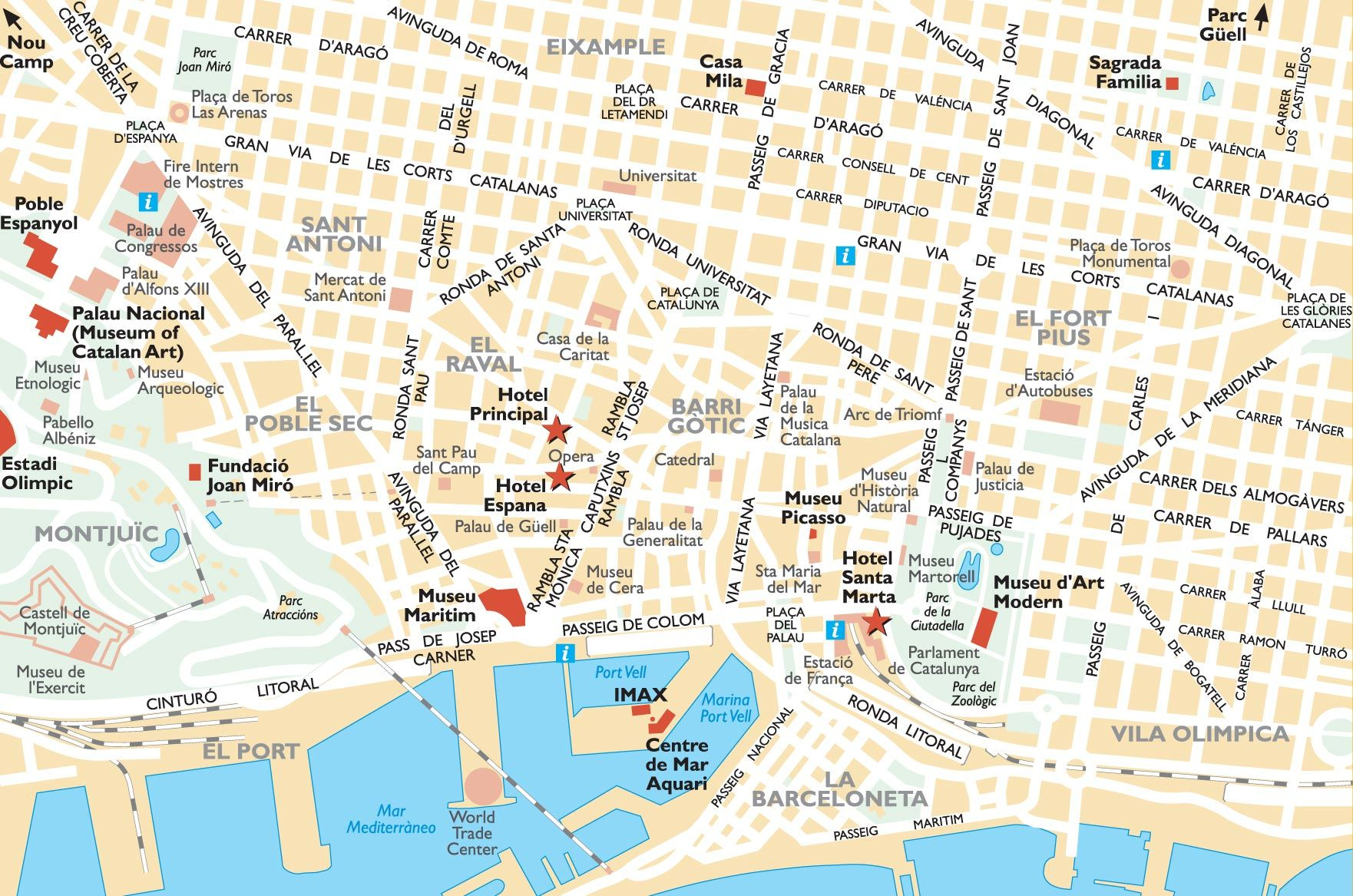 mapa de barcelona Bing Images Trip to Barcelona – Barcelona Spain Tourist Map