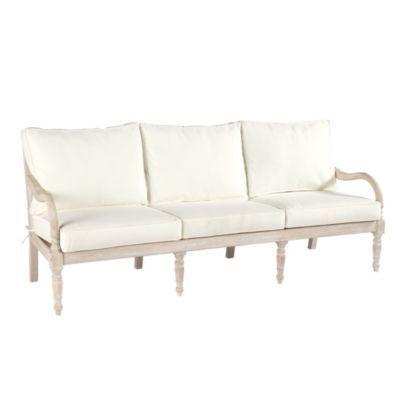 Ceylon Whitewash Sofa With Cushions Sofa Outdoor Sofa